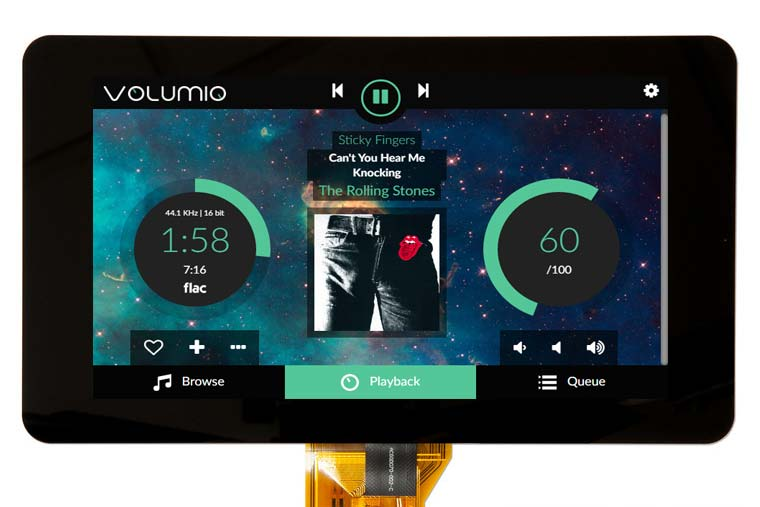 Raspberry PI Display and Volumio: a touchscreen music player